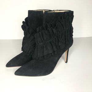 Louise et Cie Sz 9.5 Heeled Black Leather Boot